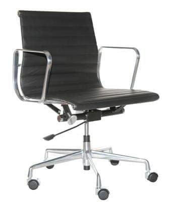 shumee Irodai szék CH1171T fekete bőr, króm