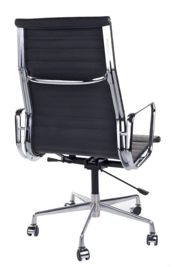 shumee Irodai szék CH1191T fekete bőr / króm
