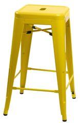 shumee Parížska barová stolička 75cm. žltá inšp. Tolix