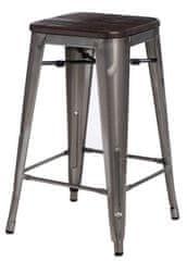 shumee Barski stol Paris Wood 75 cm, kovina, brušen bor