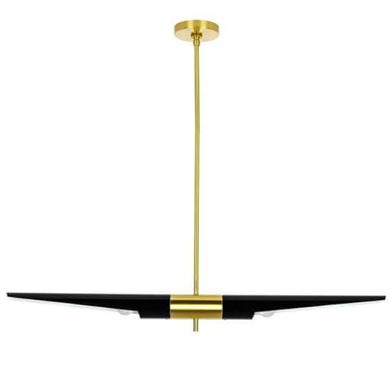 shumee Viseča svetilka APOLLO 1 črno - brušeno zlato