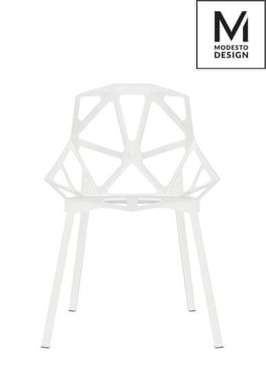 shumee A MODESTO szék SPLIT MAT fehér - polipropilén, fém talppal