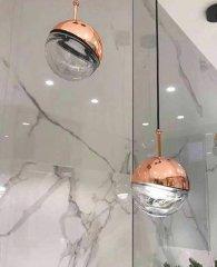 shumee Viseča svetilka POLA baker - steklo, aluminij