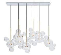 shumee Viseča svetilka CAPRI LINE 7 - LED, steklo, kovina