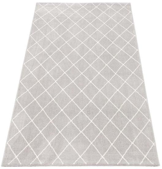 shumee Szőnyeg EMMA KOMFORT 160x230 szürke fehér gyémánt kockás 81225