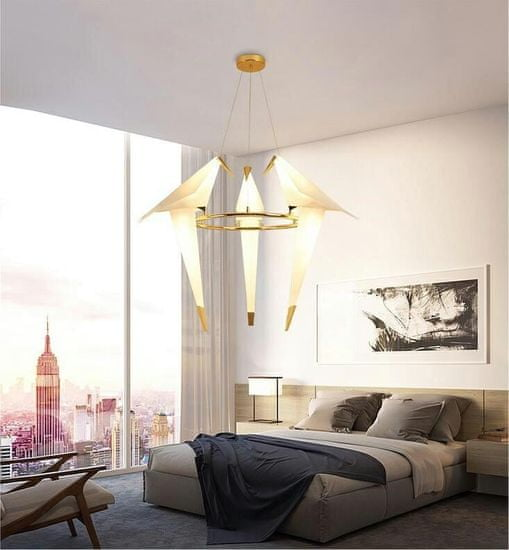 shumee Viseča svetilka LORO 3 UP zlata - LED