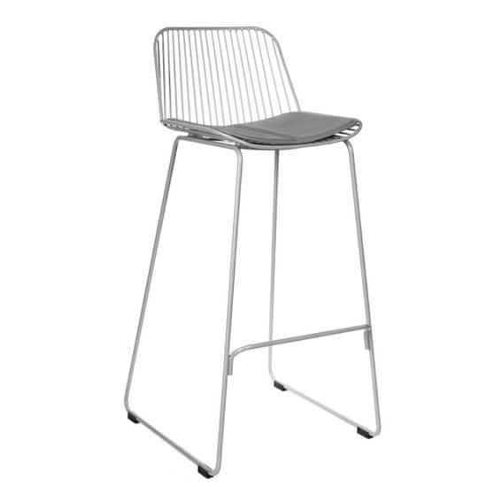 shumee Barová stolička Dill High grey so šedým vankúšom