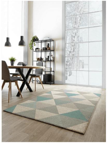 shumee Modern szőnyeg MODERN 140x200 kék háromszög geometriája 15103/350