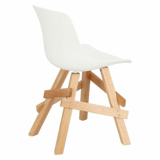 shumee Železničná stolička biela / dub