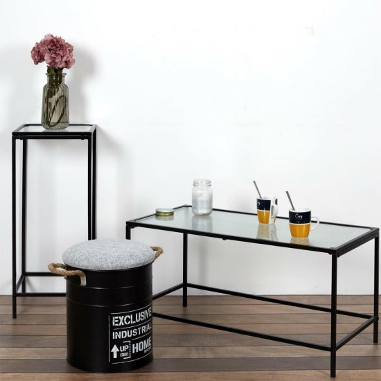 shumee Magas asztal Rosa fekete