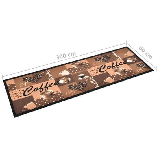 shumee Kuchenny dywanik podłogowy Coffee, brązowy, 60x300 cm