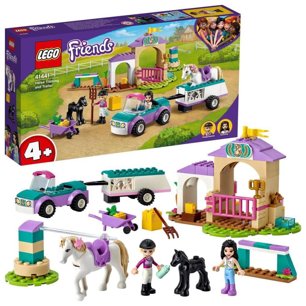 LEGO Friends 41441 Auto s přívěsem a výcvik koníka