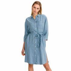 Lee Šaty Long Denim Dress Faded Blue M