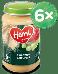 Hami ovocnoobilný příkrm S hrozny a krupicí 6x 190g, 6+