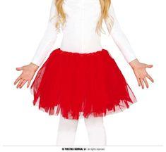 Párty detská červená sukňa TUTU - 31 cm