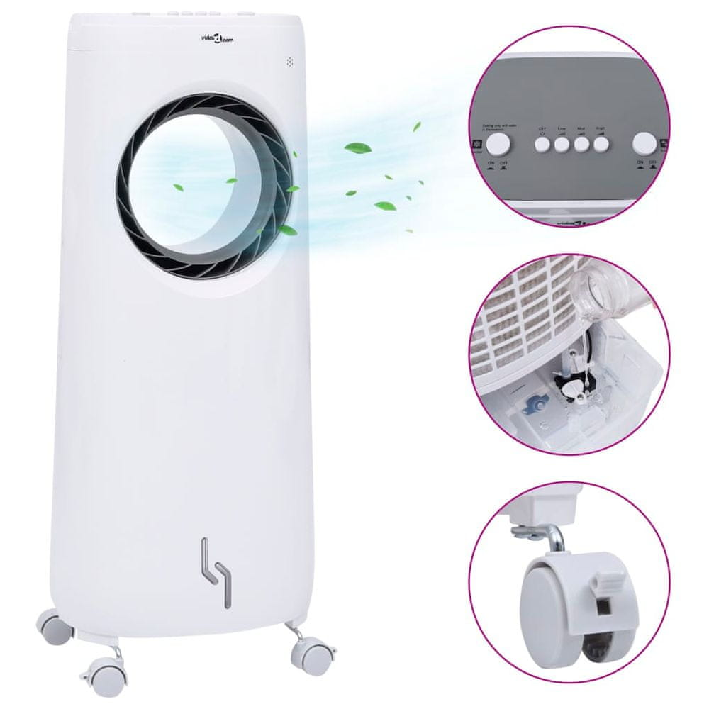 shumee Prenosná klimatizácia 2 v 1 so zvlhčovačom vzduchu 80 W.