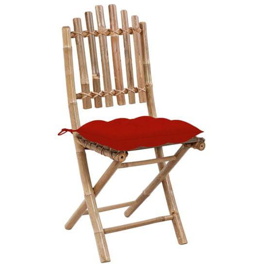 shumee Skladacie záhradné stoličky s podložkami 2 ks bambus