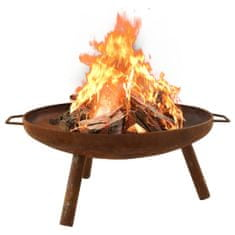 shumee Fire Pit 70x59x28 cm Jeklo