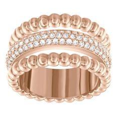 Swarovski Bronzový prsten se zirkony Swarovski 5143794 (Obvod 52 mm)
