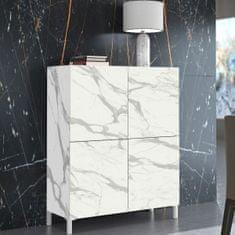 Komoda Meahel 2, bel marmor