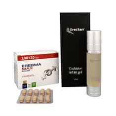 Natural Medicaments Eregma Max Power 100 tbl. + 20 tbl. ZD ARMA + Erectan Exclusive intim gel 50 ml