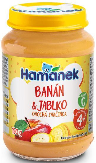 Hamánek Banán jablko 8x 190g