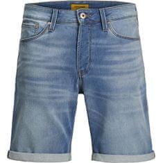 Jack&Jones JJIRICK JJICON moške kratke hlače 12166263 Blue Denim (Velikost S)