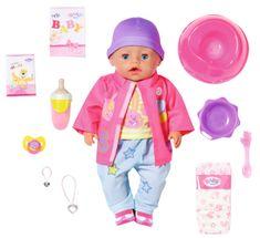 BABY born s čarobno dudo, punčka v oblačilih za vse vremenske razmere, 43 cm