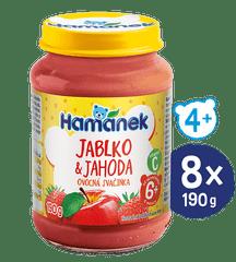 Hamánek Jahoda jablko 8 x 190 g