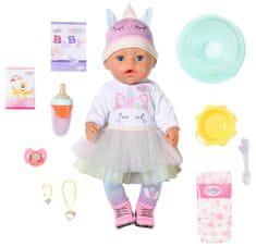 BABY born s kouzelným dudlíkem, holčička v jednorožčím oblečku, 43 cm