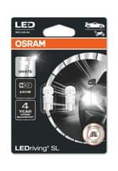 Osram W5W LEDriving® SL White 6.000°K (2 ks) - 12V, 1,12W, W2.1x9.5d - (2825DWP-02B)