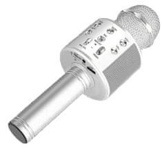 MG Bluetooth Karaoke mikrofón s reproduktorom, strieborný