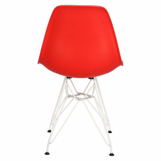 shumee Krzesło P016 PP White czerwone