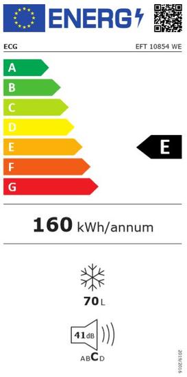 ECG EFT 10854 WE polcos fagyasztó