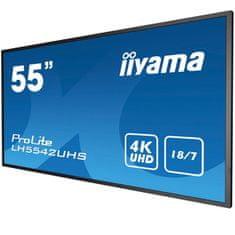 iiyama ProLite LED LCD informacijski monitor, 138.8 cm, IPS, UHD (LH5542UHS-B1)