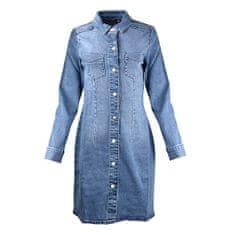 Vero Moda Ženska obleka VMGRACE 10248031 Light Blue Denim (Velikost S)