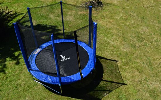 aGa SPORT TOP Trampolin 180 cm Blue + varnostna mreža