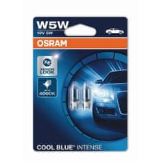Osram W5W Cool Blue® Intense (2 ks) - 12V, 5W, W2.1x9.5d - (2825HCBI-02B)
