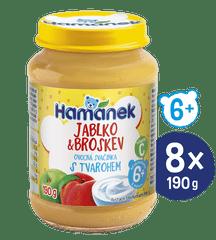 Hamánek Broskyňa s tvarohom 8x 190g