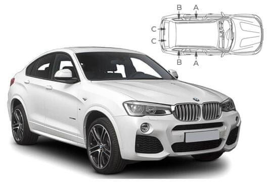 PrivacyShades Slnečné clony na okná - BMW X4 (2014-2018) - Komplet sada