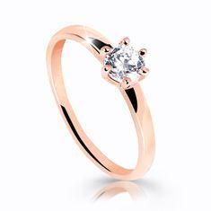 Cutie Jewellery Osupljiv bleščeč prstan iz roza zlata Z6485-10-X-4 (Obseg 53 mm) roza zlato 585/1000