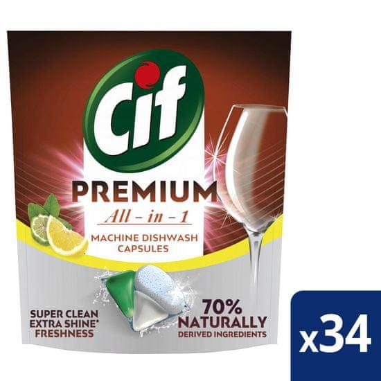 Cif Premium Lemon Kapsle do myčky nádobí 34 ks