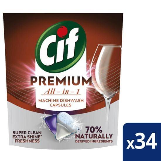 Cif Premium Regular Kapsle do myčky nádobí 34 ks