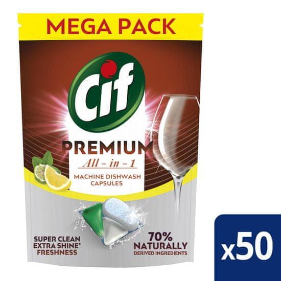 Cif Premium Lemon Kapsle do myčky nádobí 50 ks