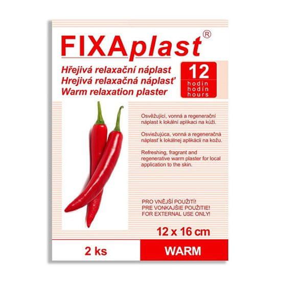 Fixaplast Kapsaicínová hrejivá náplasť WARM 12 x 16 cm 2 ks