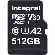 Integral Professional High Speed spominska kartica 512 GB, 180 MB/s, V30, UHS-I, U3 + SD adapter