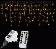 shumee Vánoční světelný déšť - 10 m, 400 LED, teple bílý, ovladač