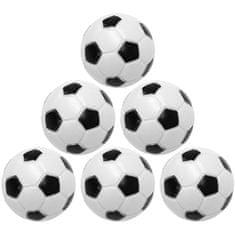 shumee Sada 5 ks čiernobielych futbalových loptičiek, 31 mm