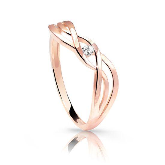 Cutie Jewellery Nežen prstan iz rožnatega zlata Z6712-1843-10-X-4 roza zlato 585/1000