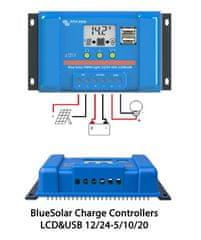 Victron Energy | BlueSolar PWM 12/24V 10A LCD+USB